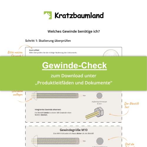kratzbaumland 15 cm Sisalstamm, Ersatzstamm für Kratzbaum: Länge: 40 cm/Gewinde: 12 mm (M12), Farbe des Sisalseils: Natur - 3