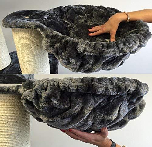 RHRQuality Liegemulde de Luxe Dunkel Grau, Ø 45 cm